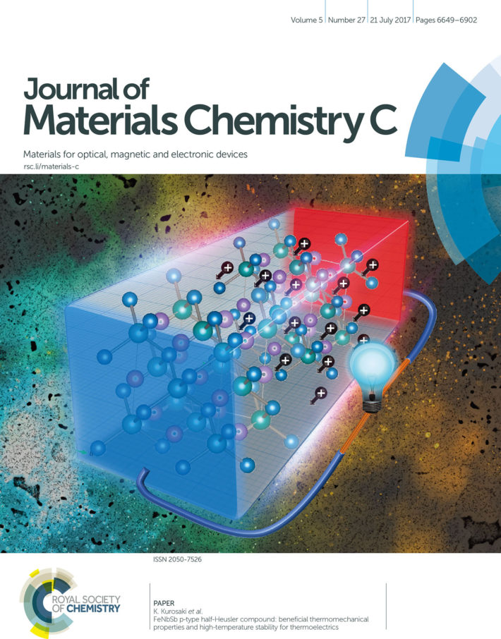 journal of materials chemistry c誌のfront coverに採択 環境